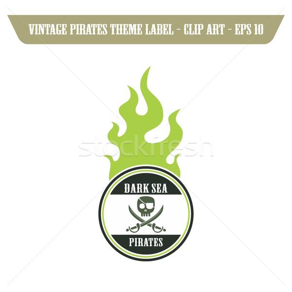 Piraten Symbol Kunst editierbar Vektor Grafik Stock foto © vector1st