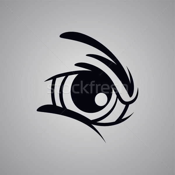 angry monster eye Stock photo © vector1st