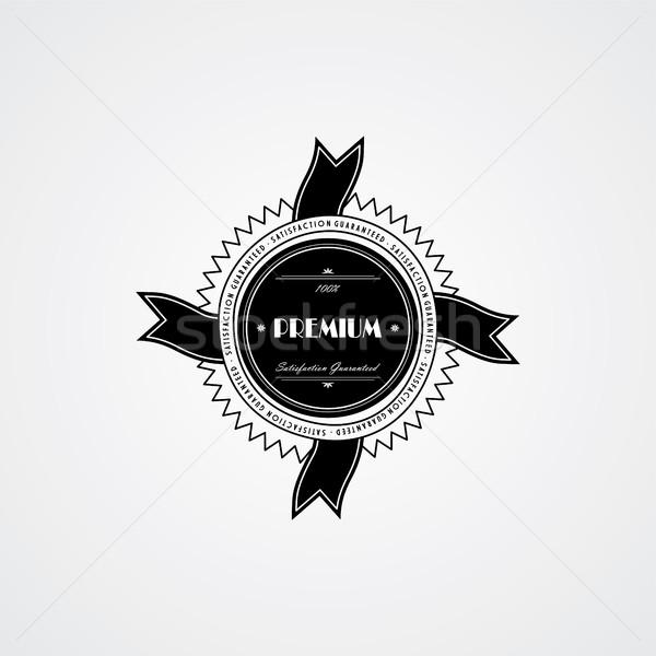 премия качество Знак Label вектора искусства Сток-фото © vector1st