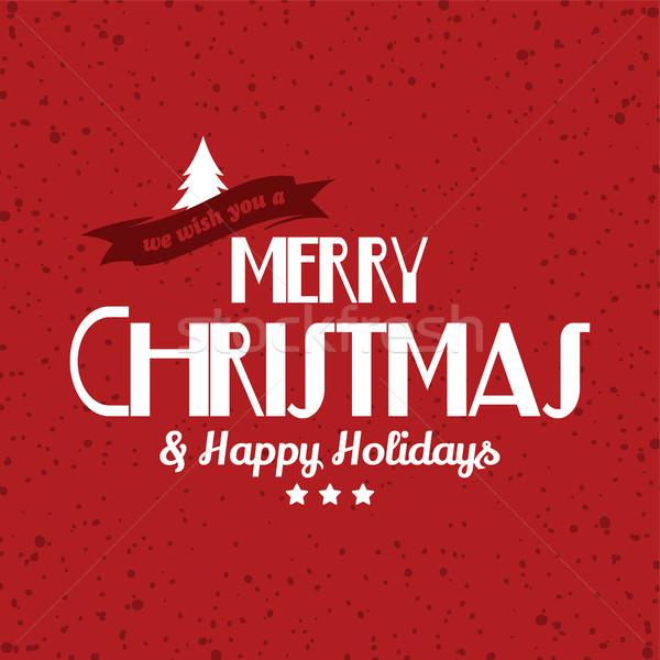 веселый Рождества текста вектора искусства Сток-фото © vector1st
