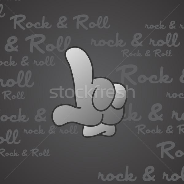 Kő zsemle kézmozdulat vektor művészet illusztráció Stock fotó © vector1st