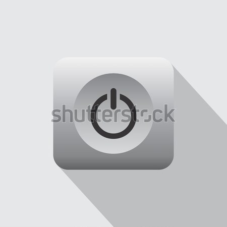 computer desktop power icon Stock photo © vector1st
