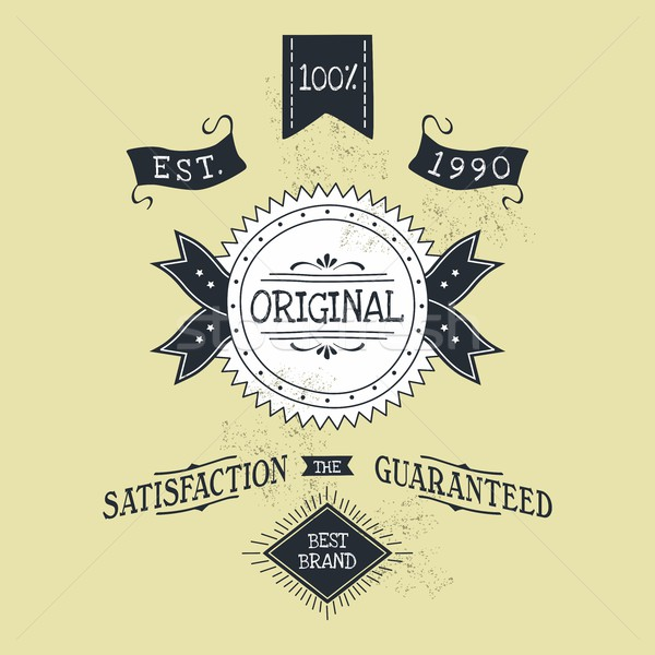 hand lettered catchword vintage tag Stock photo © vector1st