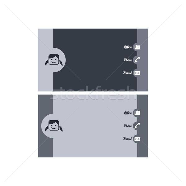 современных визитной карточкой вектора искусства графических иллюстрация Сток-фото © vector1st