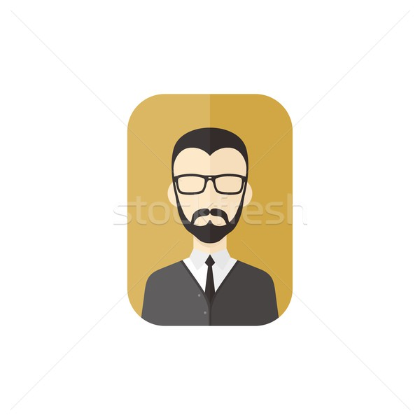 man hipster avatar user picture cartoon character Stock photo © vector1st
