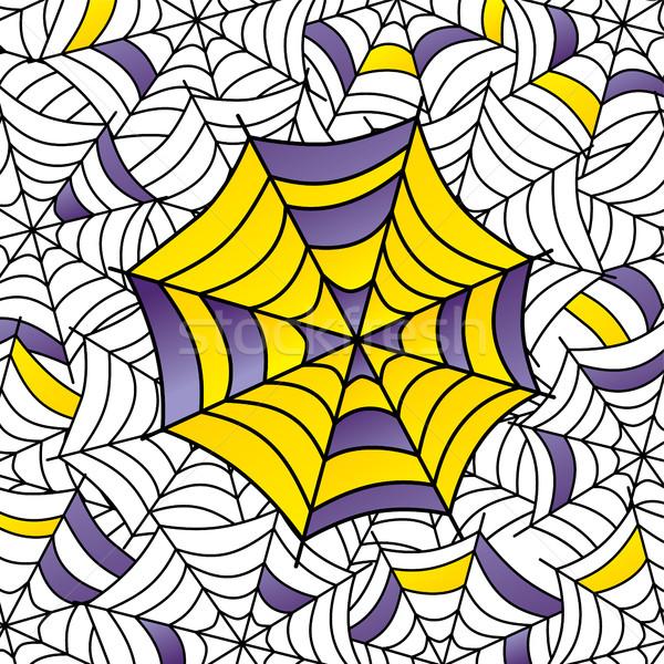Kolorowy pajęczyna sztuki wektora ilustracja projektu Zdjęcia stock © vector1st