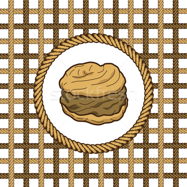 creampuff pastry lasso rope vector Stock photo © vector1st