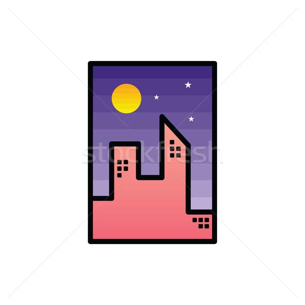 Сток-фото: ночь · икона · знак · символ · вектора