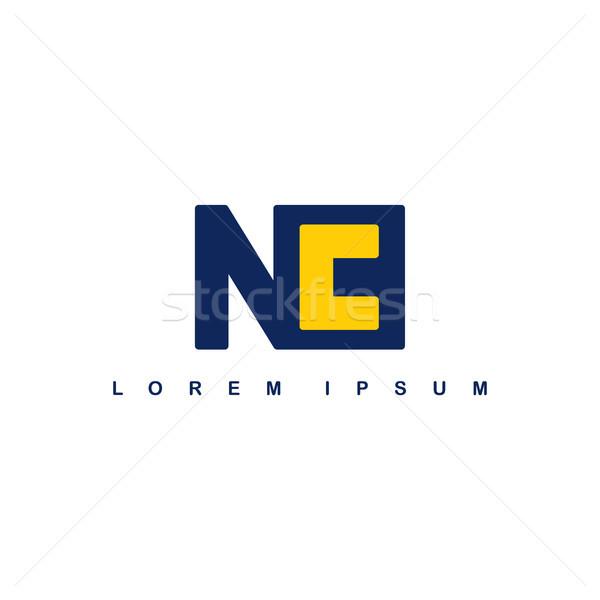 nc alphabet letter art theme logo logotype Stock photo © vector1st