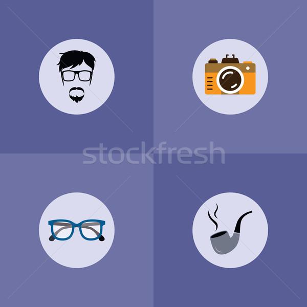 Tabak pijp vent vector kunst Stockfoto © vector1st