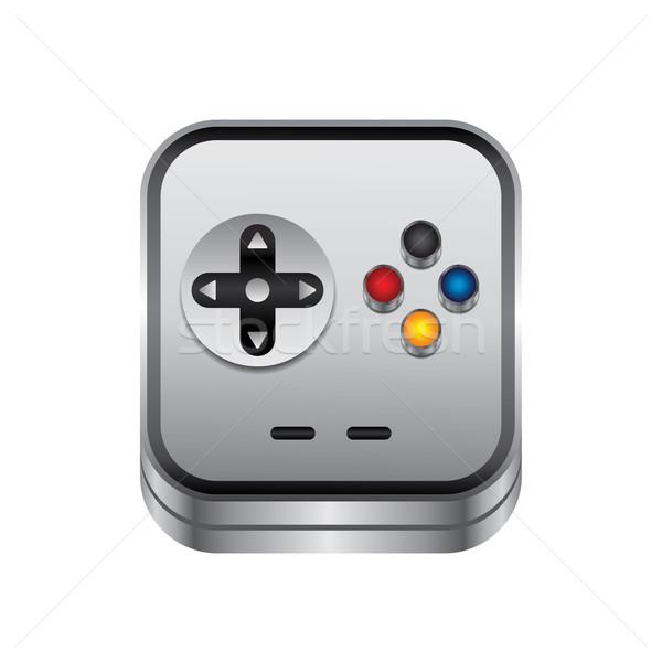 ゲーム コンソール ボタン 金属 ベクトル 芸術 ストックフォト © vector1st