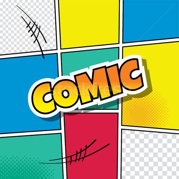 Cartoon komiks szablon wektora sztuki ilustracja Zdjęcia stock © vector1st
