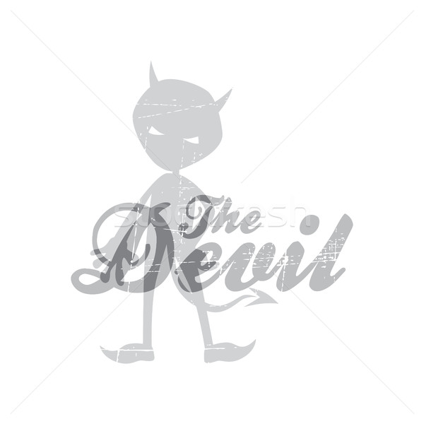 evil devil silhouette theme Stock photo © vector1st