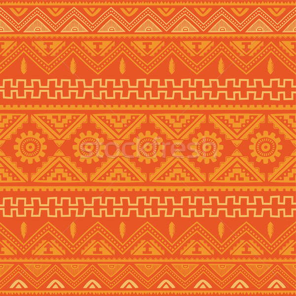 orange native american ethnic pattern Stock photo © vector1st
