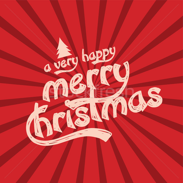 merry christmas and happy new year Stock photo © vector1st