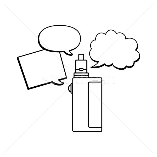 électriques cigarette vapeur vie vecteur fumée Photo stock © vector1st