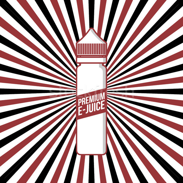 personal vaporizer e-cigarette e-juice liquid plastic bottle spark sunray burst Stock photo © vector1st
