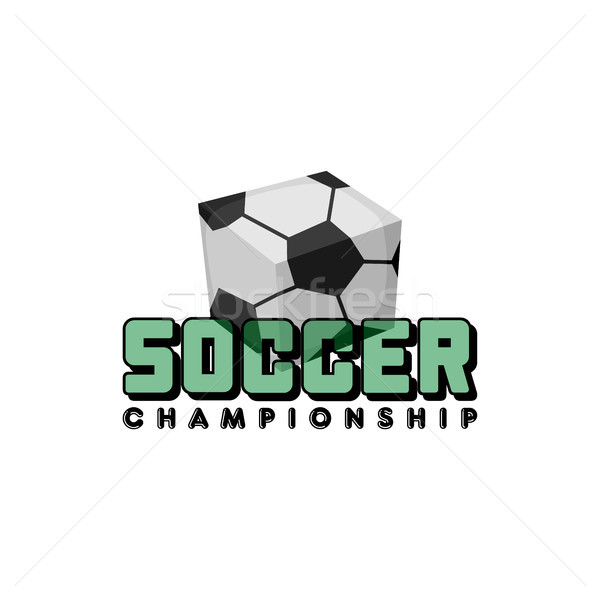 Tér futballabda izometrikus vektor logo művészet Stock fotó © vector1st