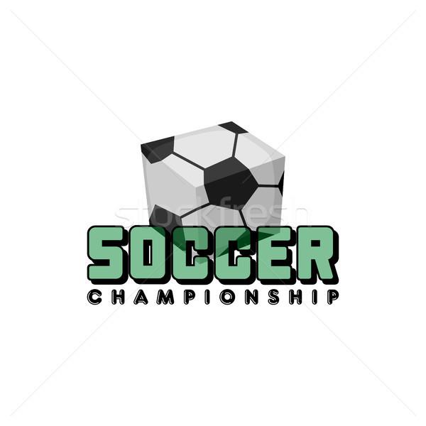 Platz Fußball Vektor logo Kunst Stock foto © vector1st