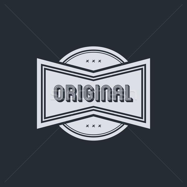 Stock fotó: Eredeti · kitűző · vektor · művészet · grafikus · illusztráció