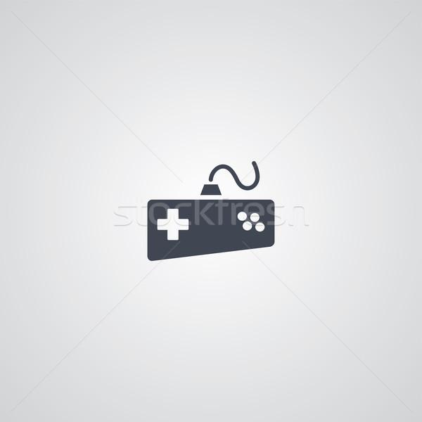 Botkormány logotípus játék konzol vektor művészet Stock fotó © vector1st