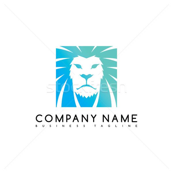 Löwen König Marke Vorlage logo Stock foto © vector1st