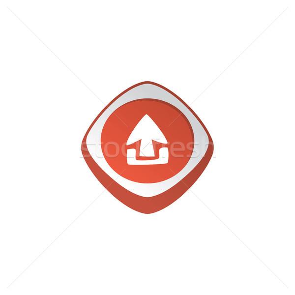 Parlak renk uygulaması ikon düğme Stok fotoğraf © vector1st
