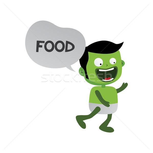 Verde zombie mostro carattere vettore arte Foto d'archivio © vector1st