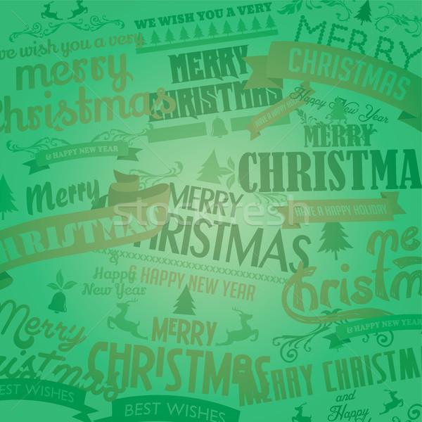 陽気な クリスマス 明けましておめでとうございます ベクトル 芸術 にログイン ストックフォト © vector1st