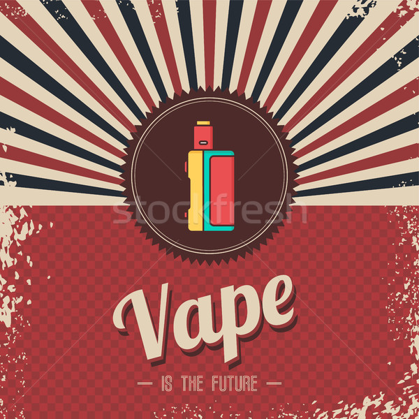 retro vaporizer electric cigarette vapor mod - vape life Stock photo © vector1st