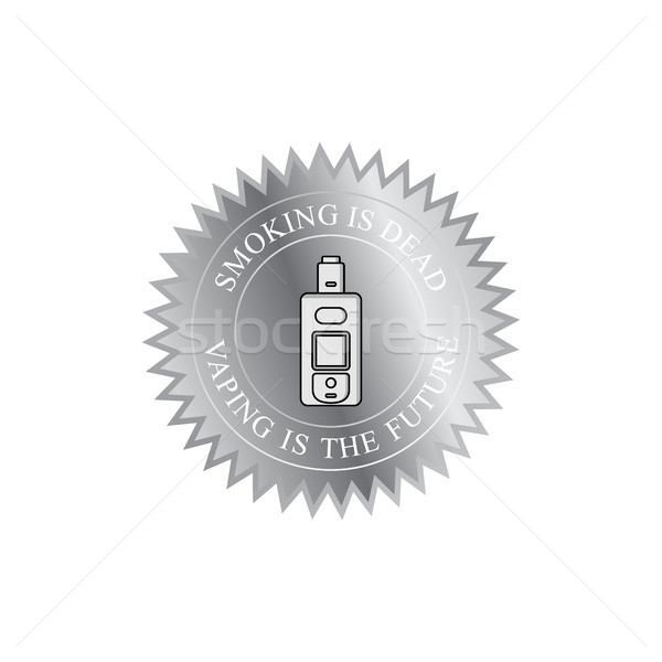 Elektrische sigaret damp badge label vector Stockfoto © vector1st