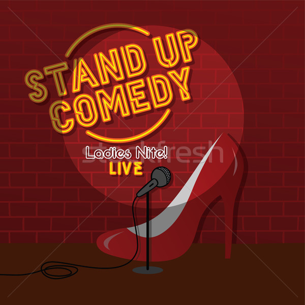stand up comedy sexy female comic ladies night theme Stock photo © vector1st