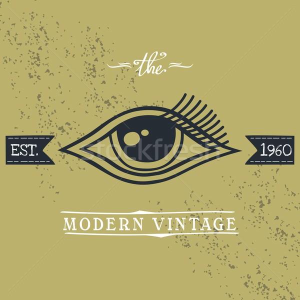 Сток-фото: глаза · вектора · искусства · иллюстрация · история