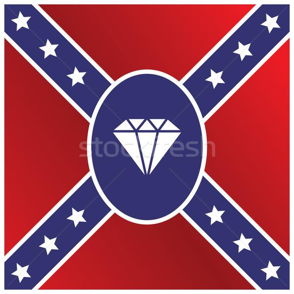 Diament kamień szlachetny banderą wektora sztuki ilustracja Zdjęcia stock © vector1st