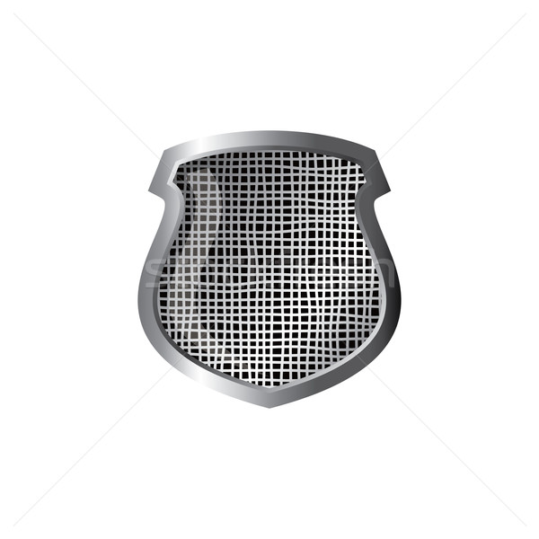 silver theme protector shield Stock photo © vector1st