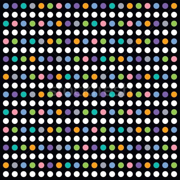 красочный точка искусства шаблон вектора графических Сток-фото © vector1st