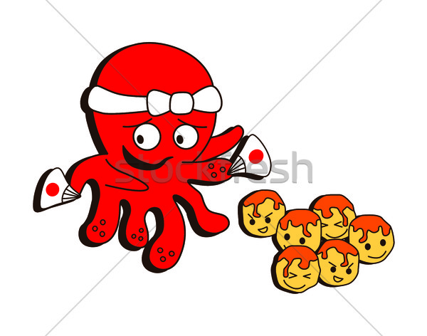 octopus seafood theme Stock photo © vector1st
