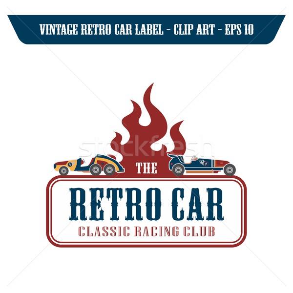 Autó jármű szerkeszthető vektor grafikus művészet Stock fotó © vector1st