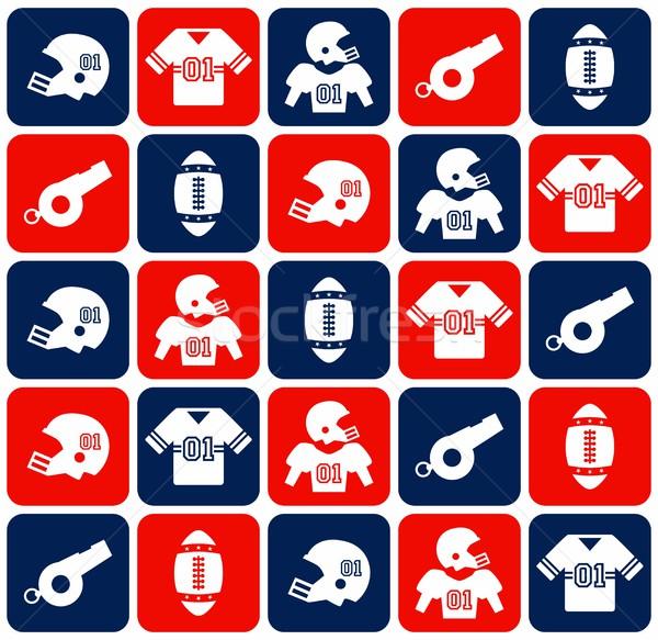 アメリカン サッカー ベクトル グラフィック 芸術 デザイン ストックフォト © vector1st
