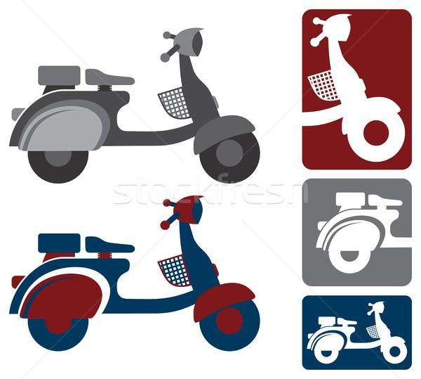 мотоцикл вектора графических искусства дизайна иллюстрация Сток-фото © vector1st