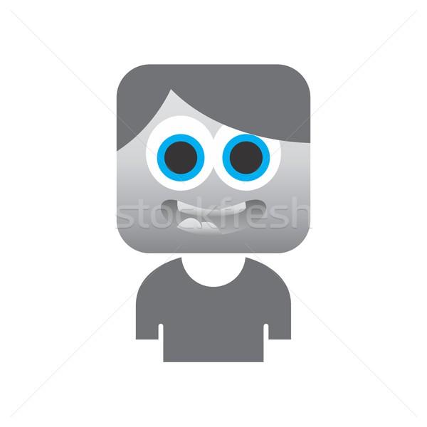 Avatar portré vektor grafikus művészet terv Stock fotó © vector1st
