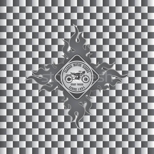 Motocicleta arte vetor gráfico projeto Foto stock © vector1st