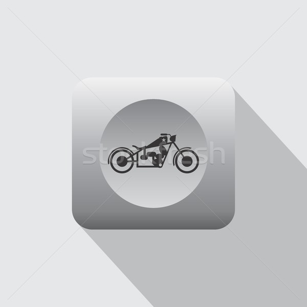 chopper motorcycle icon Stock photo © vector1st