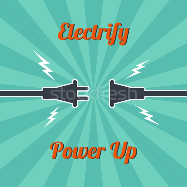 electricity vintage theme Stock photo © vector1st