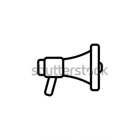 Hangfal ikon vektor terv legjobb zene Stock fotó © vector1st