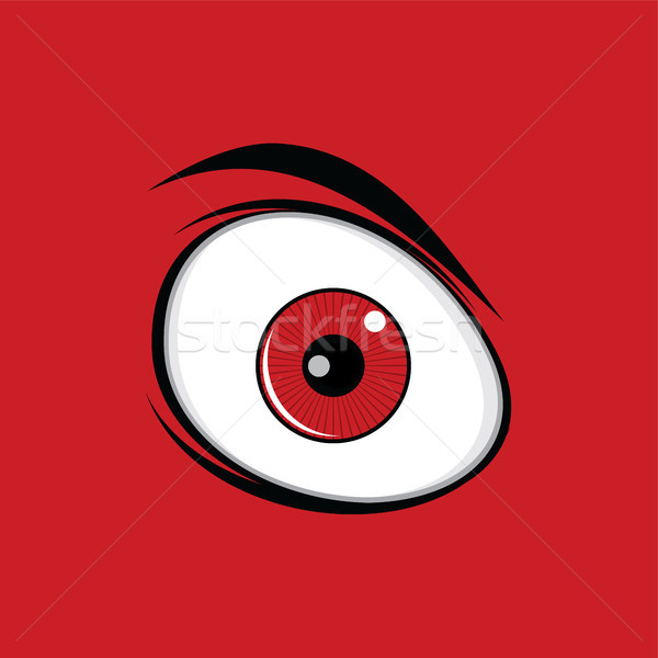 Cartoon drôle yeux verts design vecteur Photo stock © vector1st