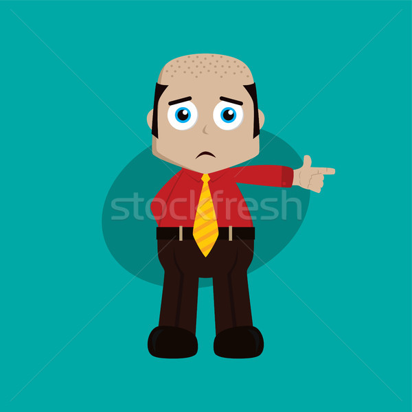 businessman manager at work pointing finger cartoon vector art Stock photo © vector1st