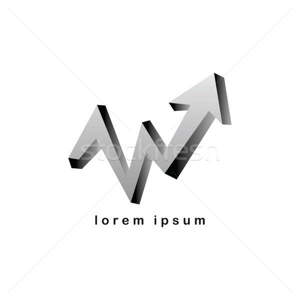 Ok grafik logo vektör sanat Stok fotoğraf © vector1st