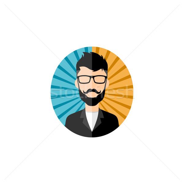 Retro beyefendi vektör avatar portre anlamaya Stok fotoğraf © vector1st