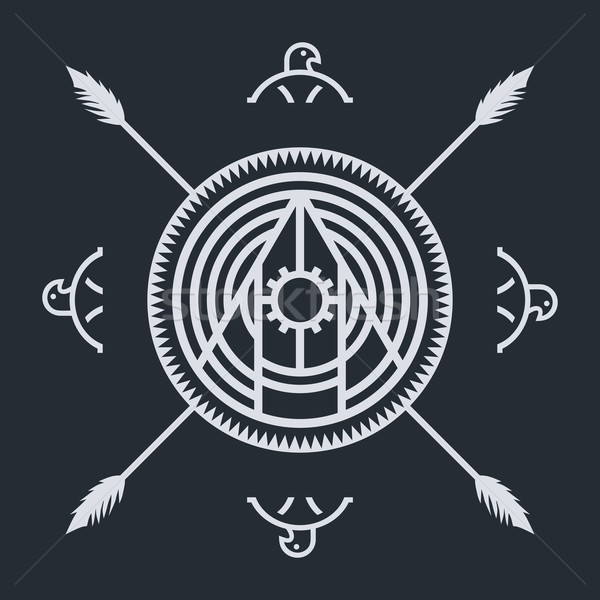 native ethnic art symbol Stock photo © vector1st